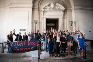 Prison Ecology Project and friends at EPA offices in D.C., June 10, 2016
